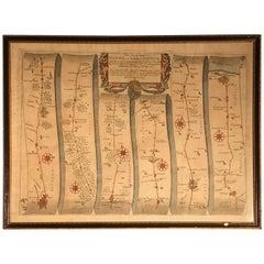 Map Road, John Ogilby, Britannia, No 74, Cornhill Ipswich, Cromer