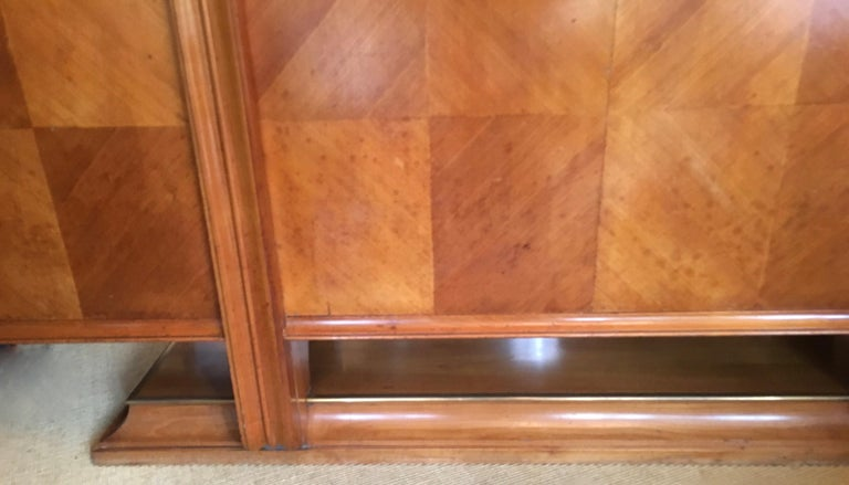 20th Century Maple 4-Door French Cabinet in the Manner of Andre Arbus For Sale