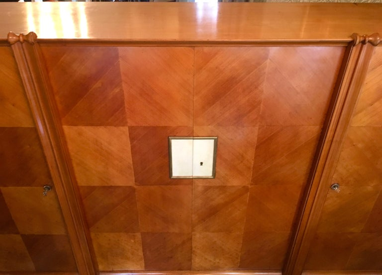 Maple 4-Door French Cabinet in the Manner of Andre Arbus For Sale 1