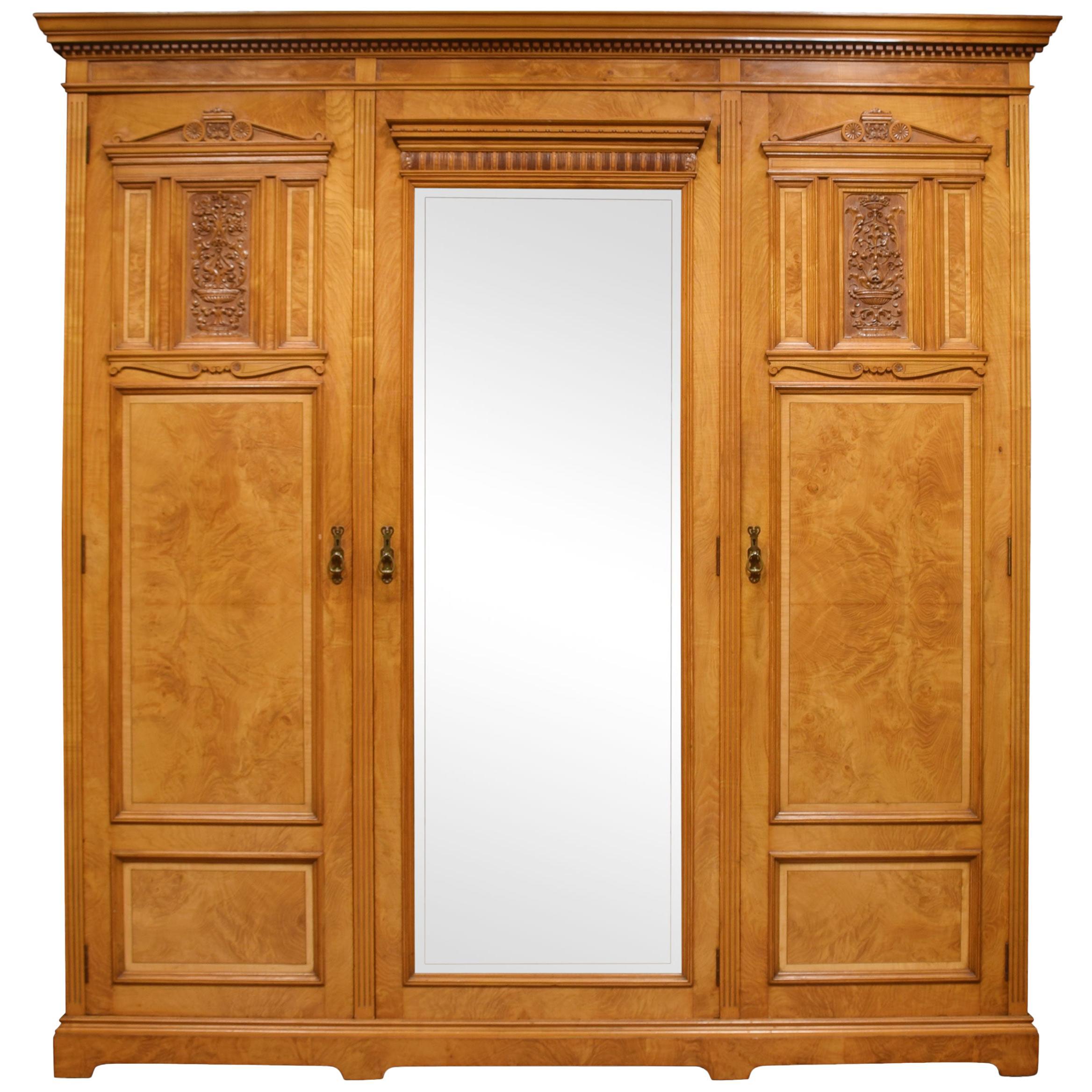 Maple and Co Three-Door Wardrobe