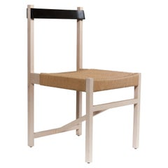 Maple and Ebonized Mahogany Perico Dining Chair with Danish Chord