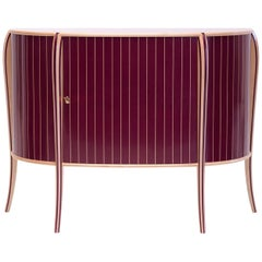 Maple and Purpleheart Marquetry Sideboard