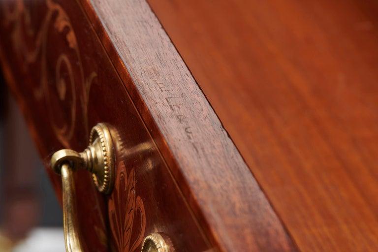 Ahorn & Co Mahagoni, Satinholz und Intarsien viktorianischer Carlton House Schreibtisch 11