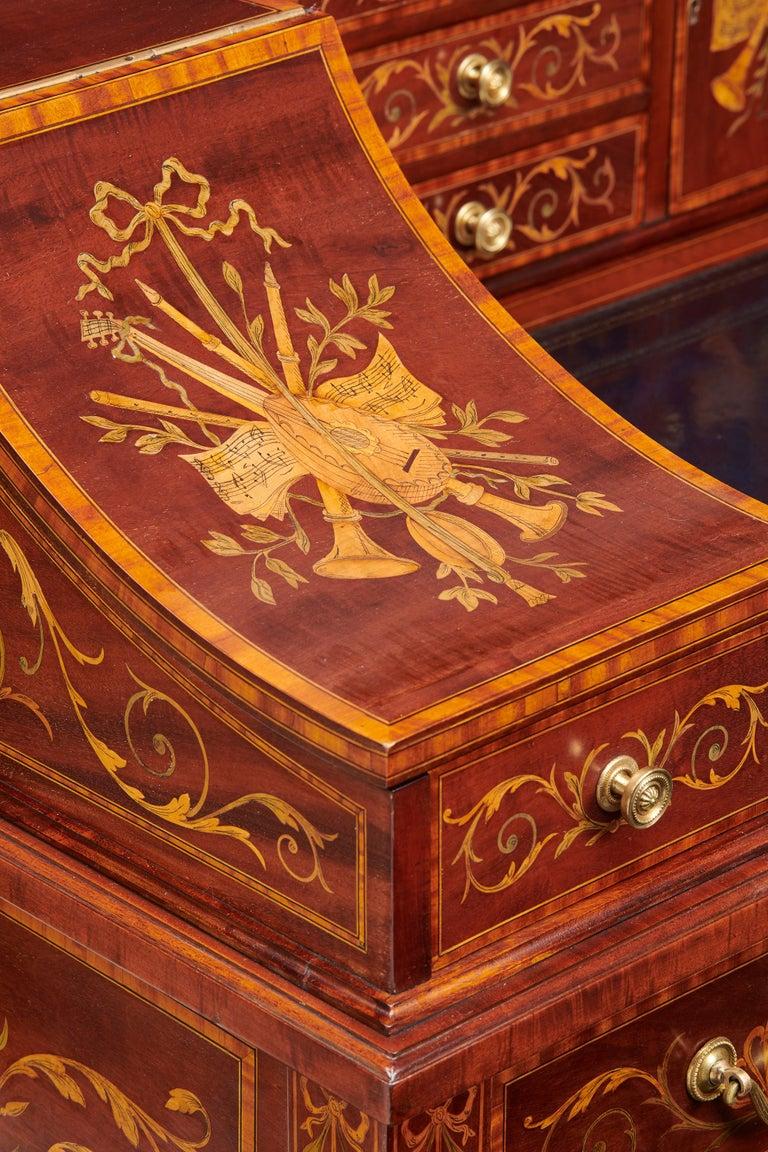 Ahorn & Co Mahagoni, Satinholz und Intarsien viktorianischer Carlton House Schreibtisch 7