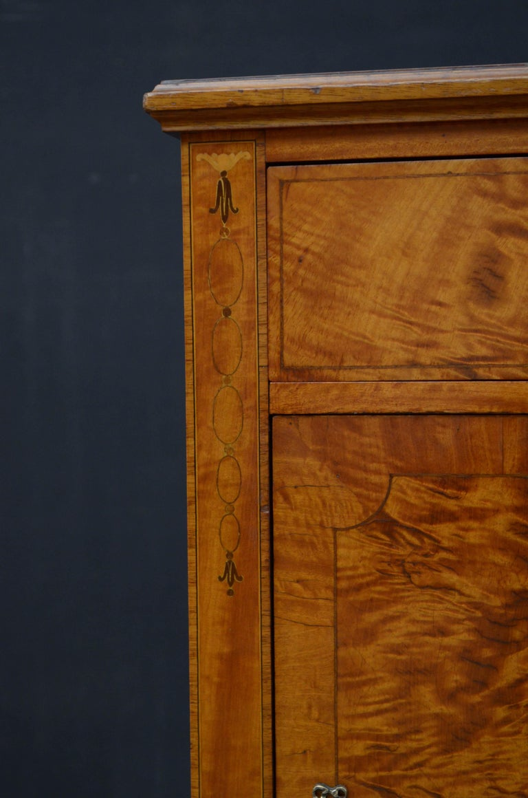 Early 20th Century Maple & Co. Satinwood Bedside Cabinet