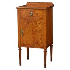 Maple & Co. Satinwood Bedside Cabinet