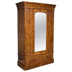 Maple & Co Victorian Burr Walnut Wardrobe