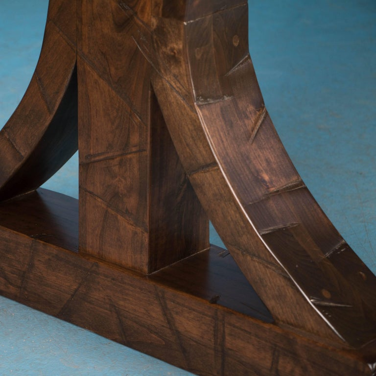 Maple dining table made from reclaimed box car flooring for Recycled wood flooring for sale
