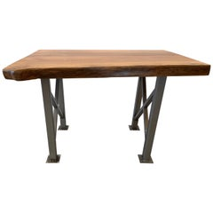Maple Freeform Table with Industrial Steel Base