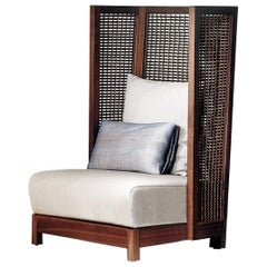 Maple Highback Suzy Wong Easy Armchair by Kenneth Cobonpue