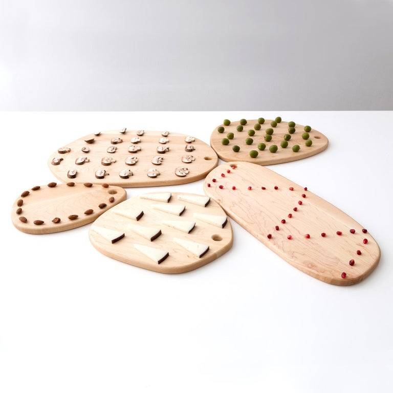 Maple Large Hexagon Pebble Cutting Board, in Stock For Sale 4