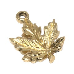 Maple Leaf 14 Karat Yellow Gold Charm