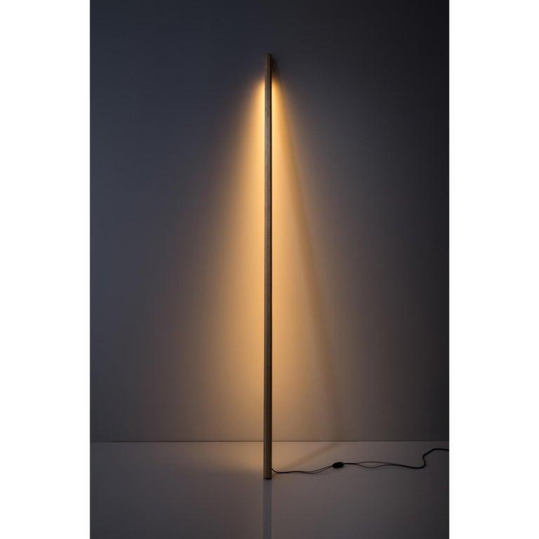 American Maple LED Line Light, Sculpture For Sale