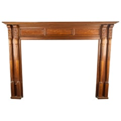 Maple Mantel with Carved Spindles