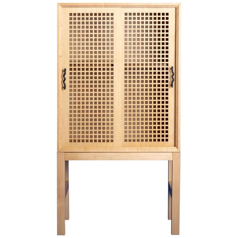 Maple Memphis-Inspired Path of Totality Bar Cabinet For Sale