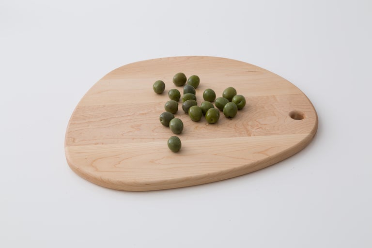 American Maple Oval Pebble Cutting Board, in Stock For Sale