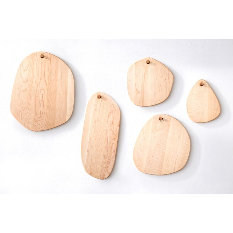Maple Oval Pebble Cutting Board, in Stock For Sale 1