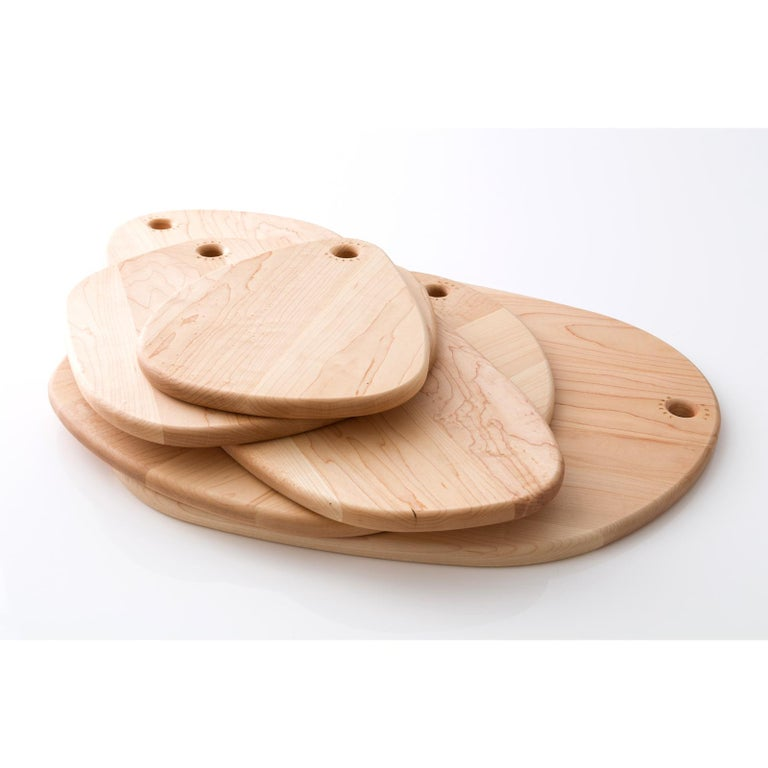 Maple Oval Pebble Cutting Board, in Stock For Sale 3