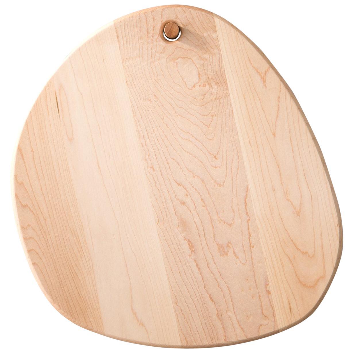 Maple Oval Pebble Cutting Board, in Stock