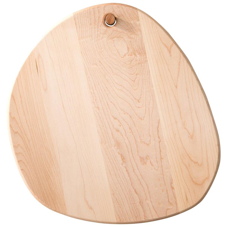 Maple Oval Pebble Cutting Board, in Stock For Sale
