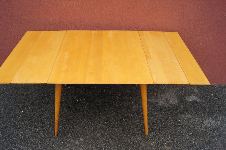 Mid-20th Century Maple Planner Group Dining Table with Extensions by Paul McCobb For Sale