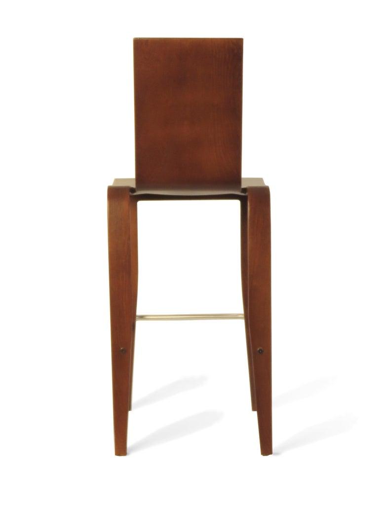 Strange Maple Ply Bent Molded Plywood Bar Chair In Walnut Finish Vintage Peter Danko Beatyapartments Chair Design Images Beatyapartmentscom