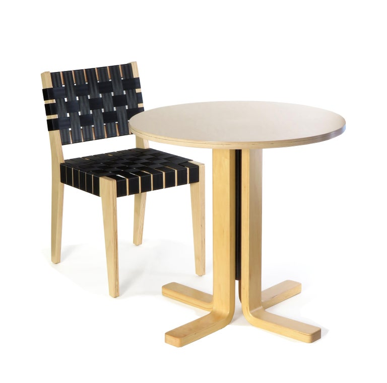 Birch Maple Side Chair In Wenge with Champagne Woven Seat & Back by Peter Danko For Sale