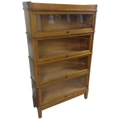 Maple Six Section Stacking Barrister Bookcase