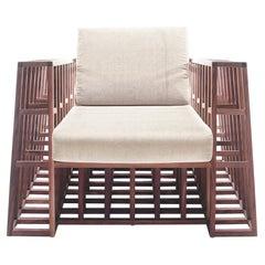 Maple Tilt Easy Armchair by Kenneth Cobonpue