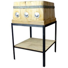 Maple Wood French Butcher Block, circa 1900