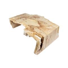 Mappa Burl Waterfall Edge Coffee Table, in Stock