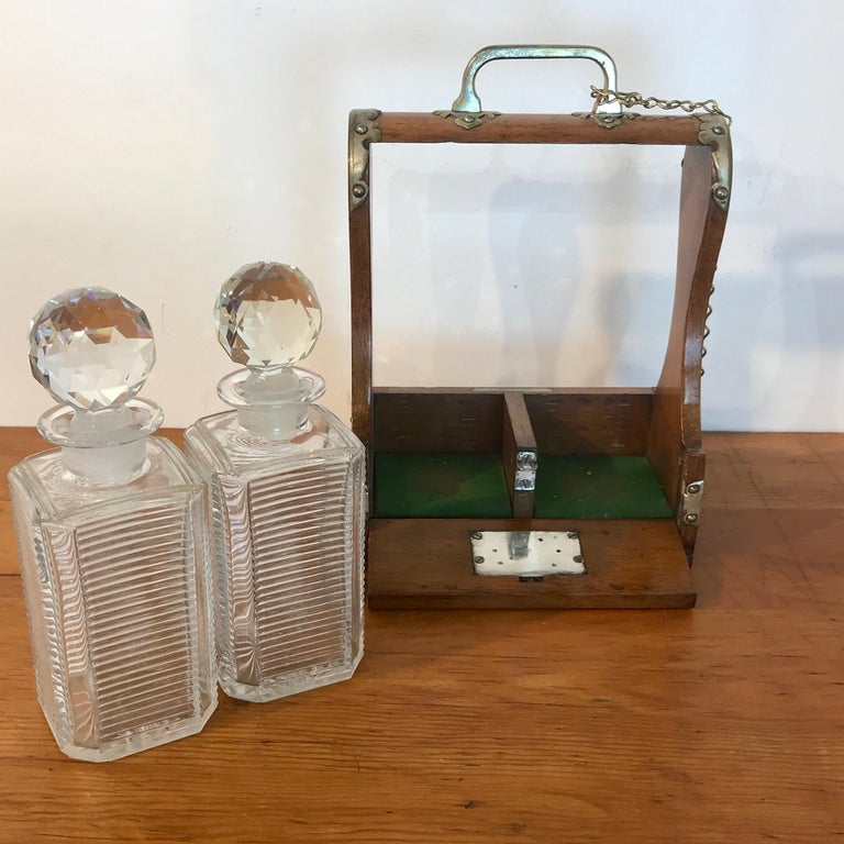 Mappin Bros. Diminutive Tauntless with Cut Glass Decanters For Sale 3