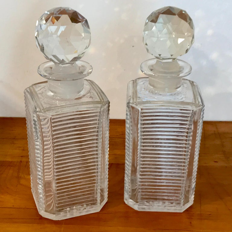 Mappin Bros. Diminutive Tauntless with Cut Glass Decanters For Sale 4