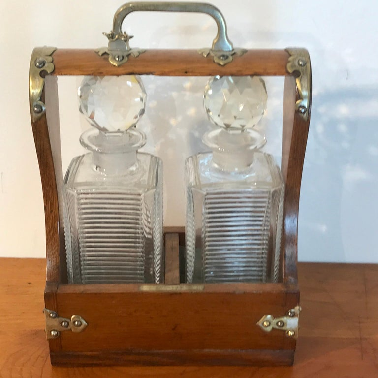 English Mappin Bros. Diminutive Tauntless with Cut Glass Decanters For Sale