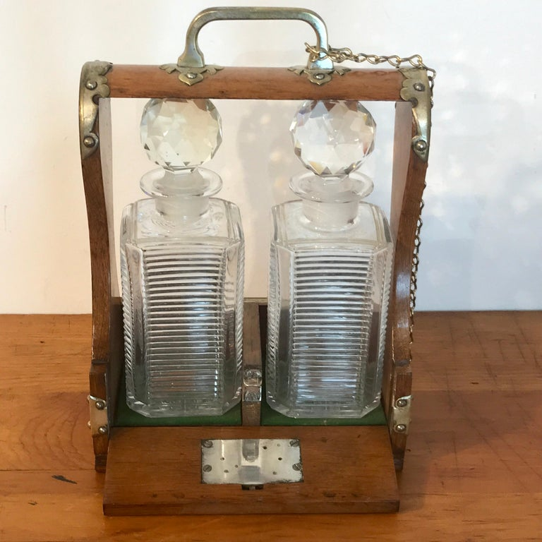 Mappin Bros. Diminutive Tauntless with Cut Glass Decanters For Sale 2