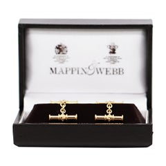 Mappin & Webb 18 Carat Yellow Gold Chain Link Cufflinks