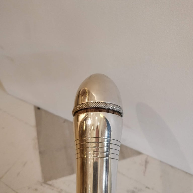 French Mappin & Webb Art Deco Silver Plate Bell Shaped Cocktail Shaker, circa 1930 For Sale