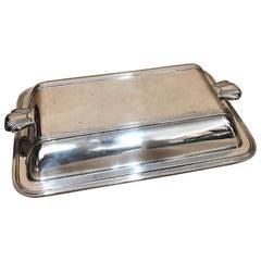 Mappin & Webb Art Deco Silver Plated English Entree Dish, circa 1930