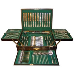 Mappin & Webb Complete Set of Silverware in Original Chest