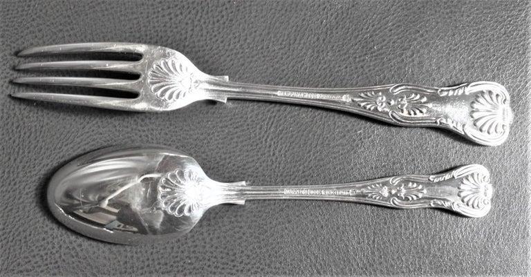 Mappin & Webb Kings Pattern Silver Plated Dinner & Luncheon Flatware Set 49 Pcs For Sale 1