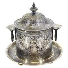 Mappin & Webb Qajar Style Silver Plated Biscuit Box