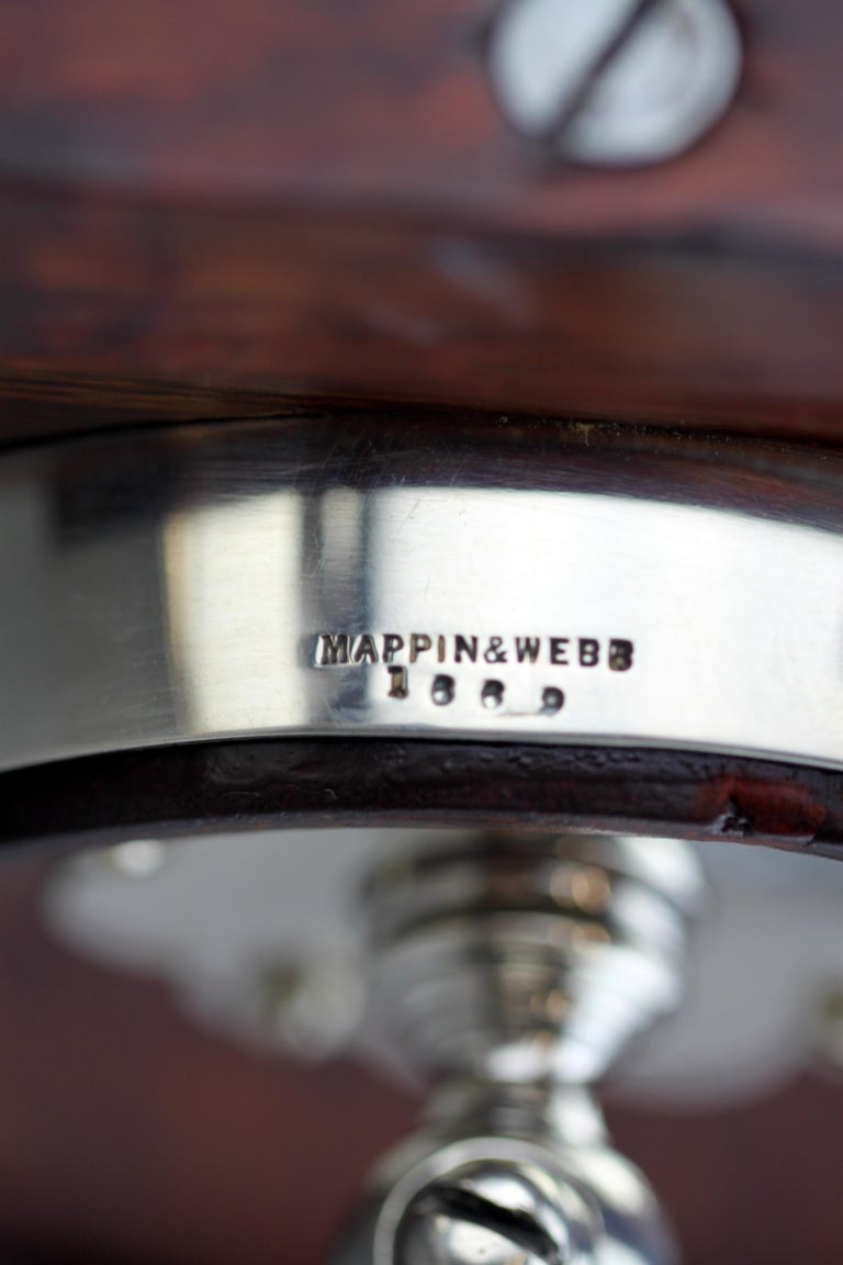 Mappin & Webb, Silver and Wooden Barrel / Keg with Tap for Whiskey, 1925 For Sale 4