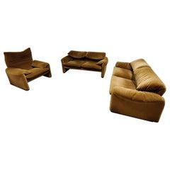 Maralunga Sofa Set by Vico Magistretti for Cassina, 1973