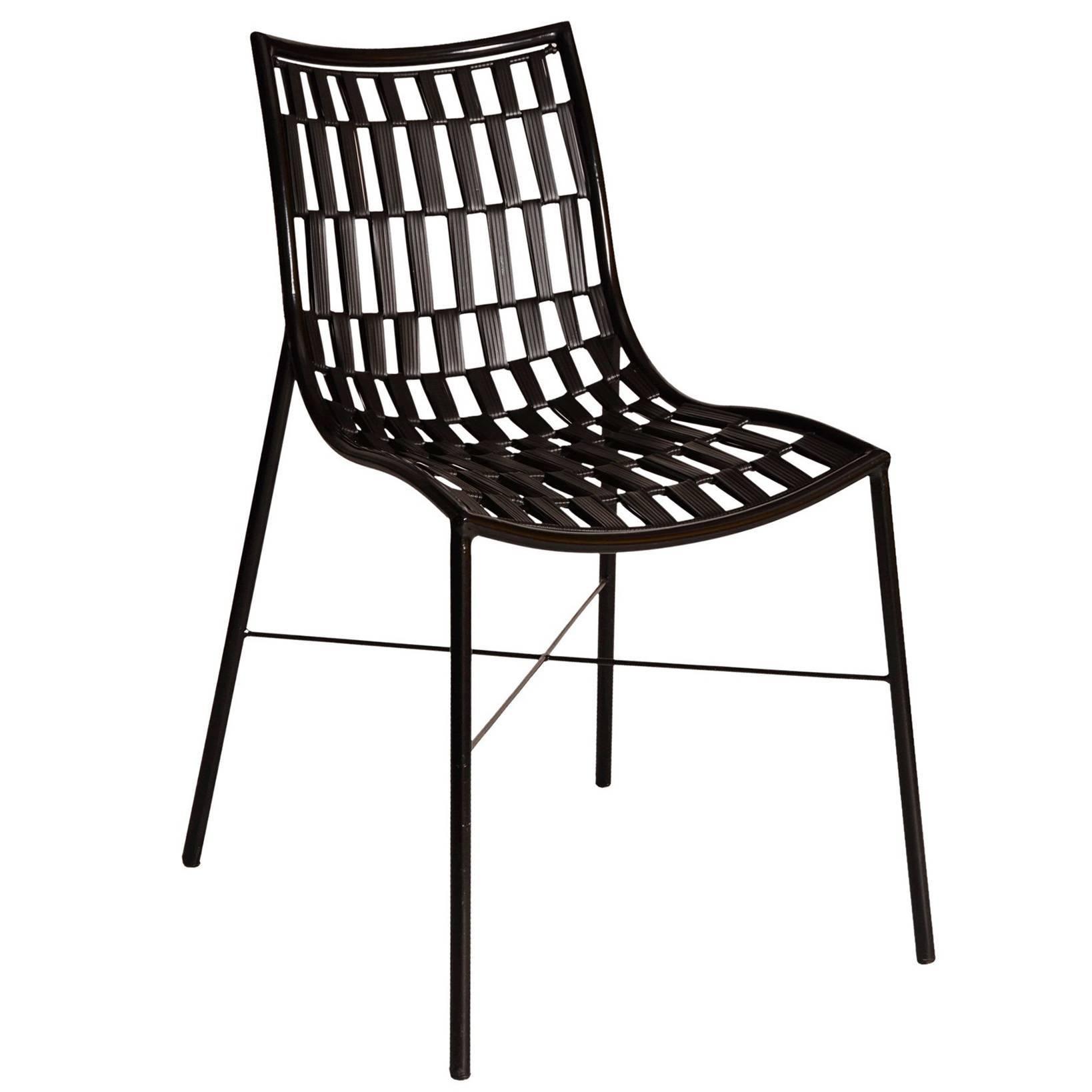 Marambaia Brazilian Contemporary Powder Coated Carbon Steel Chair by Lattoog