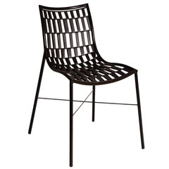 Marambaia Brazilian Contemporary Powder Coated Carbon Steel Chair by Lattoog