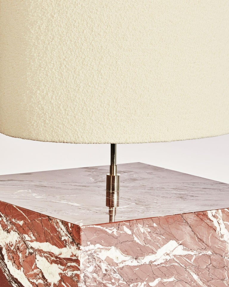American Marble and Boucle Coexist Floor Lamp by Slash Objects For Sale