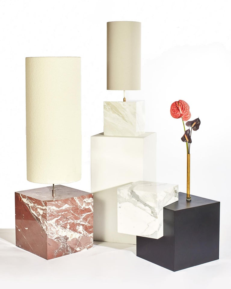 Marble and Boucle Coexist Floor Lamp by Slash Objects In New Condition For Sale In New York, NY
