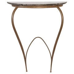 Marble and Brass Console Table, Attributed to Carlo Enrico Rava, Italy, 1950s