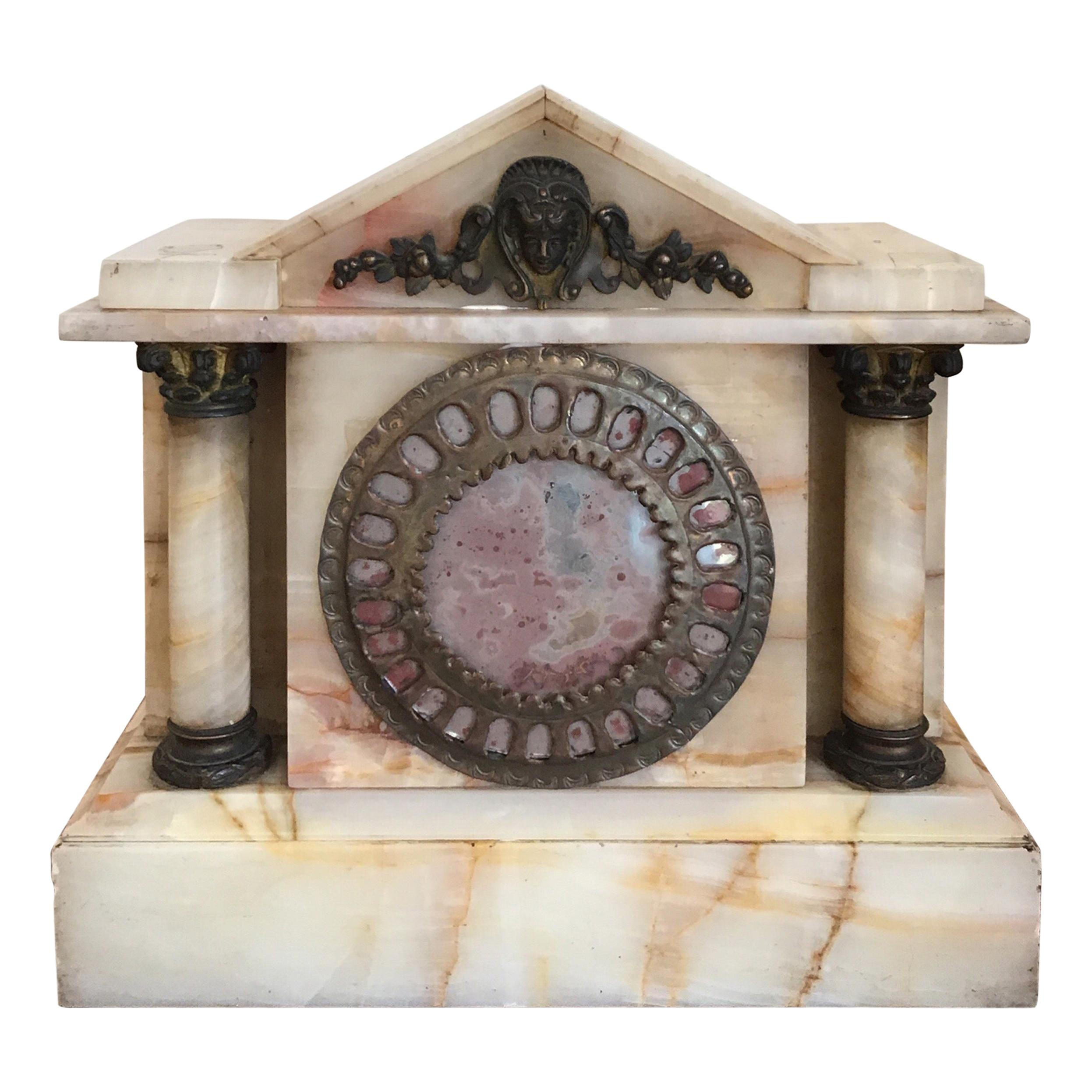 Marble and Brass Late 19th Century Clock Case