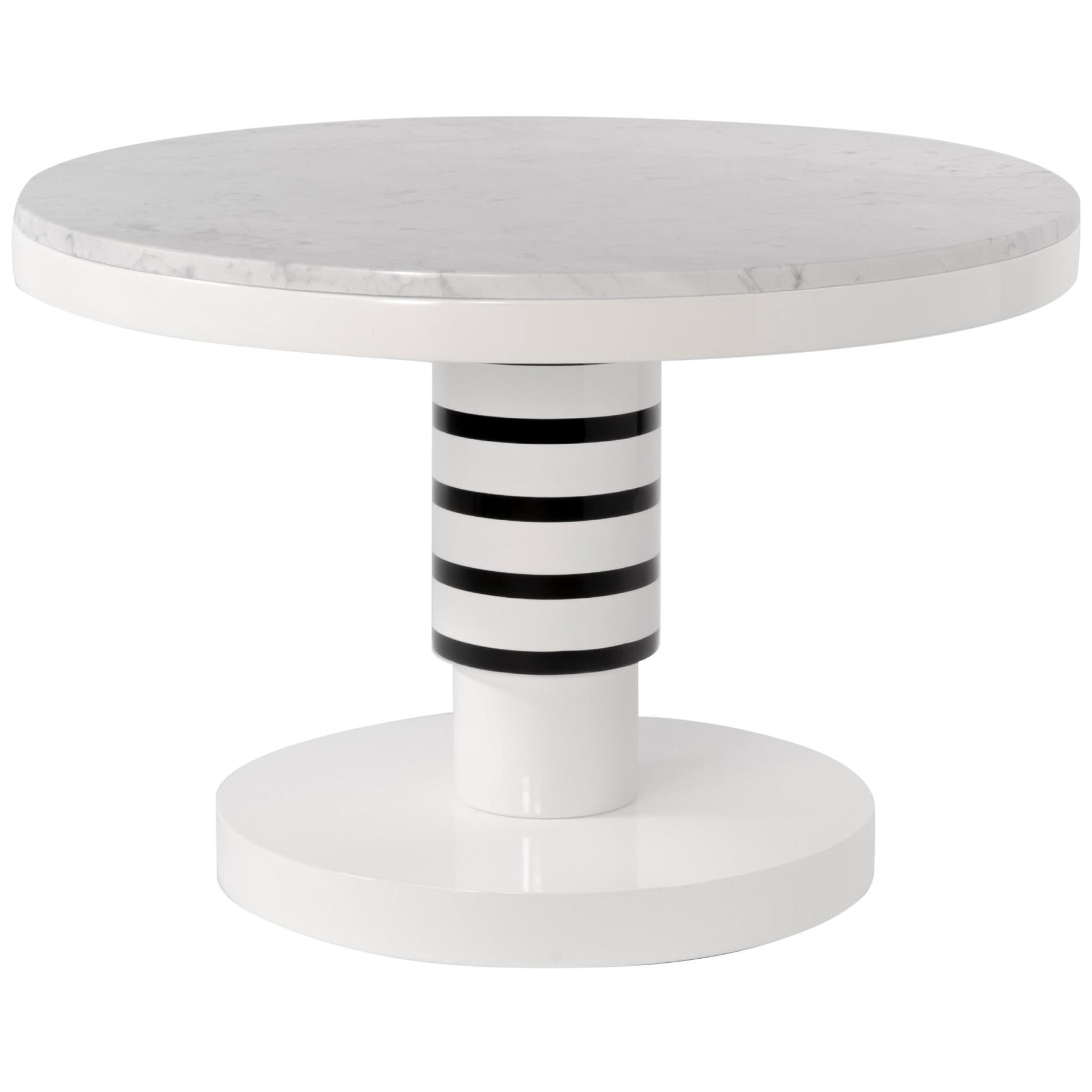 Marble and Ceramic Small Coffee Table by Eric Willemart